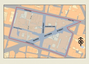 Map of Cordwainer ward